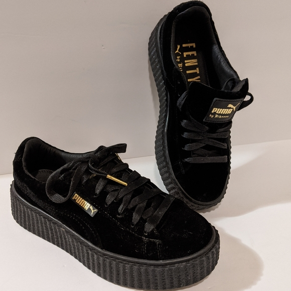 Details about Puma Grey Fenty Rihanna Velvet Creepers Sneakers Shoes Size 6 NEW SOLD OUT!!!
